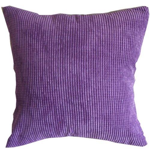 Solid Reddish Purple Corn Kernels Pattern Polyester Throw Pillow Covers Pillowcase Sham Decor Cushion Slipcovers Square 17x17 Inch