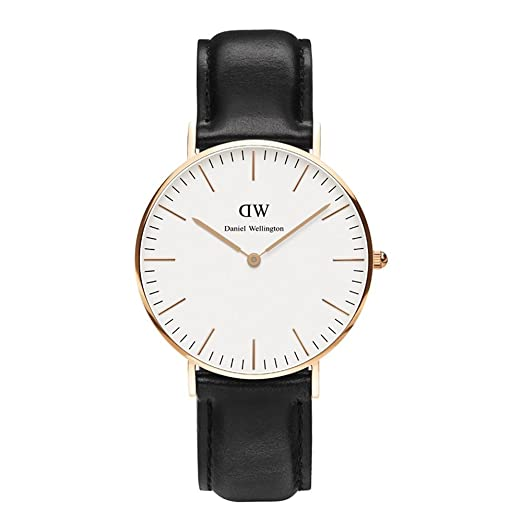 Daniel Wellington - 0508DW - Sheffield - Montre Mixte - Quartz Analogique - Cadran Rose - Bracelet Cuir Or rose: Daniel Wellington: Amazon.fr: Montres