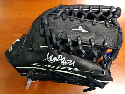 Ichiro Suzuki Autographed Signed Mizuno Game Model Glove NY Yankees #31 Holo - Autographed MLB Gloves