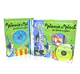 Winnie The Witch Series Collection Korky Paul 6 Books & 2 CDs Box Set Pack (Winnie's Midnight Dragon, Happy Birthday, Winnie, Winnie's Flying Carpet, Winnie's Amazing Pumpkin, Winnie In Space, Winnie Under The Sea) Korky Paul