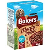 Bakers Complete Meaty Meals Puppy with Tasty Beef Dog Food 1 kg (Pack of 4)