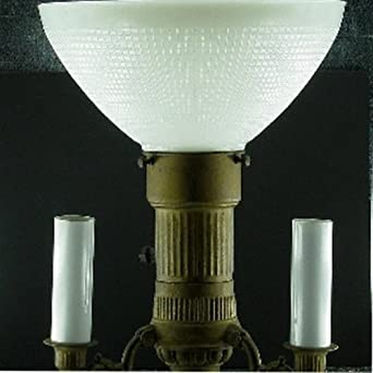 Upgradelights glass floor lamp reflector diffusser shade for 8 inch glass floor lamp reflector shade glass