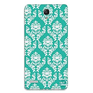 Designer Xiaomi Redmi Note Prime Case Cover Nutcase -Mint & White Damask