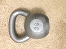 35 Lb. Pound Kettlebell Wide Handle Kettle Bell Solid Cast Iron