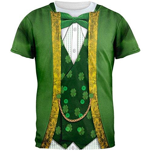 St. Patricks Day Leprechaun Costume tutto Adult t-shirt-X-Large