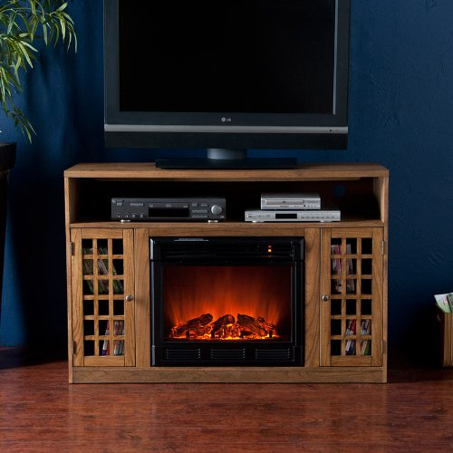 Fairfax Media Weathered Oak Electric Fireplace photo B005VYY6HI.jpg