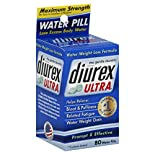 Diurex Ultra Water Pills, Maximum Strength, 80 pills