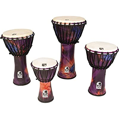 Toca Synergy Freestyle Rope Tuned Djembe 9 In Purple