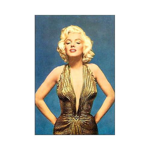 (4x6) Marilyn Monroe in Gold Dress Postcard Pin Up