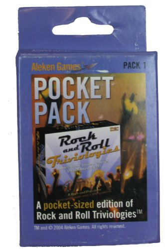 Aleken Games Rock and Roll Triviologies Pocket Pack - 1