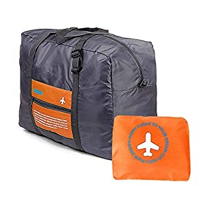 BOGZON Waterproof Nylon Foldaway Luggage For Travel,Campimg,Sports, Orange
