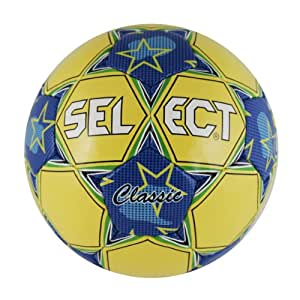 Select Classic Soccer Ball (Yellow/Blue, Size 3)