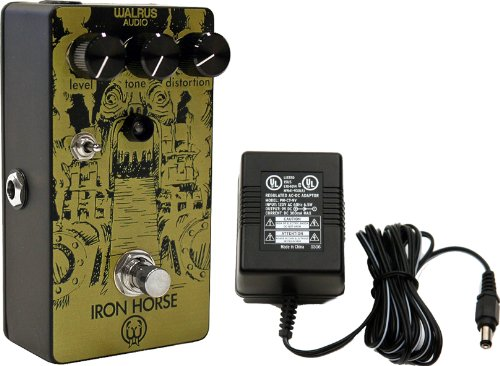 Walrus Audio Iron Horse Distortion Custom Graphics Limited Edition Pedal W/9V Power Supply
