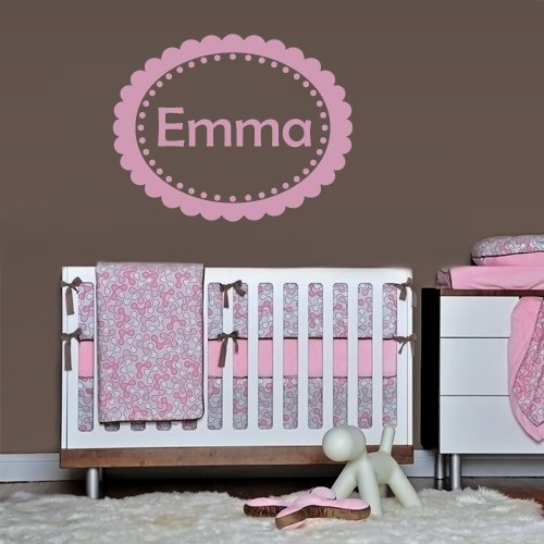 Wall Decals Sticker Bedroom Kids Nursery Baby Custom Name Monogram Personalized Dots Sign Words Frame (Z1097) front-993099