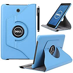Dell Venue 8 Case, E LV Dell Venue 8 Case Cover 360 rotating Lightweight case for Venue 8 Tablet (Android Tablet) (will only fit Dell Venue 8 tablet) - LIGHT BLUE