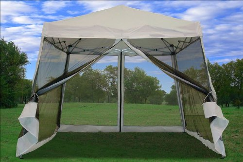 8X8 / 10x10 Pop up Canopy Party Tent Gazebo Ez : 10x10 canopy with netting - memphite.com