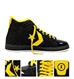 Converse All Star Chuck Taylor 'Wade' Tri Star Pro Leather Mid Trainers - Black
