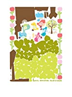 Ambiance Live Vinilo Decorativo Tree with hearts and birds flowers Multicolor