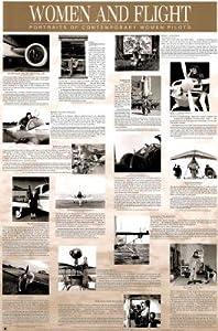 (24x36) Women and Flight Art Poster Print
