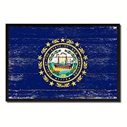 New Hampshire State Shabby Chic Flag Art Custom Picture Frame Office Home Wall Decor Bedroom Livingroom Masteroom ManCave Gift Idea 15\