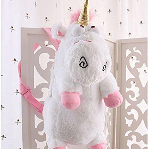 Despicable Me 3D Rosa Giro Agnes Fluffy Unicorn zaino della peluche Large Size