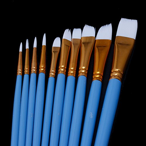 10pcs-blue-gouache-watercolor-oil-painting-nail-art-pen-nylon-white-hair-brushes