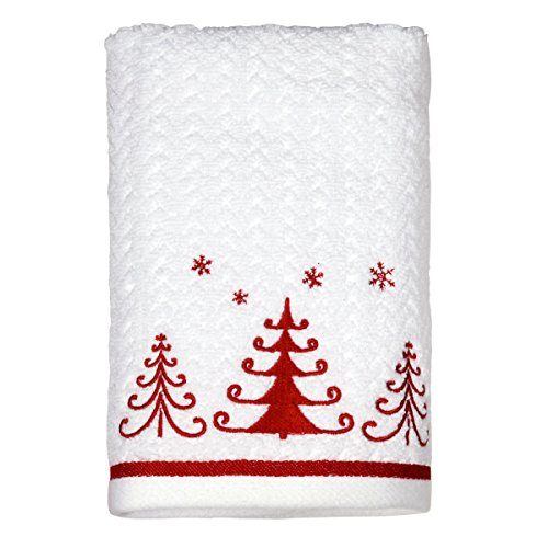 Peri Towels Home Goods: Peri Home Embroidered Trio Trees Holiday 100% Cotton Hand