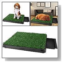 Pet Park Indoor Potty Dog Grass Mat Training Pad Pet Potty Dog Training Pads Non-toxic Synthetic Grass 24.6 x 19.5 x 2.7inch