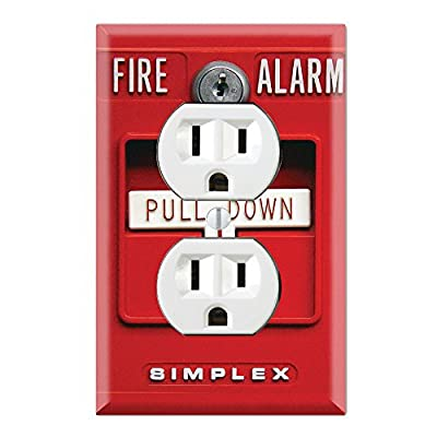 Wall Switch Toggle / Outlet Cover Plate Decor Wallplates - Fire Alarm from DecalSkin