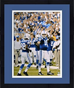 Framed Autographed Peyton Manning Indianapolis Colts Photo - 16x20 Witness - JSA... by Sports Memorabilia