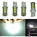 Cutequeen LED Car Lights Bulb White T10 3528 42-SMD 194 168 (pack of 4)