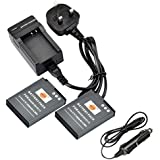 DSTE® 2x EN-EL12 Rechargeable Li-ion Battery + DC03U Travel and Car Charger Adapter for Nikon Coolpix P300 P310 P330 P340 S31 S70 S610 S620 S630 S640 S800c S1000pj S1100pj S1200pj S6000 S6100 S6150 S6200 S6300 S8000 S8100 S8200 S9050 S9100 S9200 S9300 S9400 S9500 S9600 AW100 AW100s AW110 AW110s AW120s Digital Camera