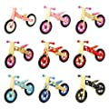 Bopster Childrens Wooden Balance Bike Boys Girls Kids Running Training Bikes