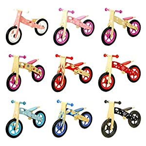 Bopster Childrens Wooden Balance Bike Boys Girls Kids Running Training Bikes