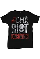 "The Chariot Mens T-Shirt - Distressed ""One Wing"" Word Logo"