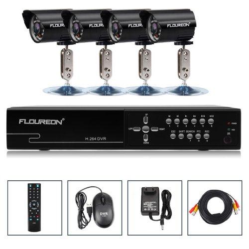 FLOUREON SET 8 Kanal CCTV DVR wasserdichte Nachtsicht Sicherheitskamera Überwachungskamera System DE