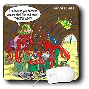 mp_1903_1 Londons Times Funny Relationships Cartoons - Shellfish Mate - Mouse Pads