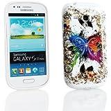 Kit Me Out FR Coque en gel TPU pour Samsung Galaxy S3 Mini i8190 - papillon coloré