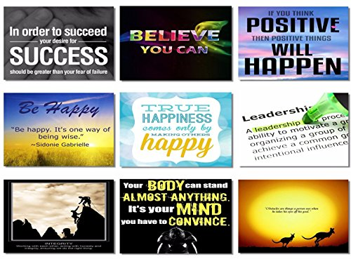 9x Poster Motivational Quotes