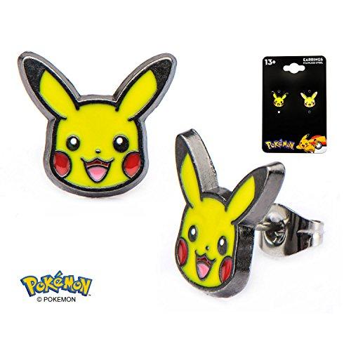 Pokemon Pikachu EARPIN Set, Acciaio inossidabile, colore: Standard, cod. PMPIKAER01
