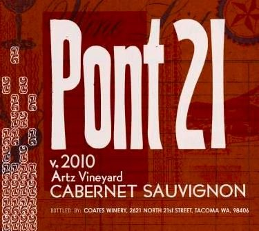 "2010 21 Cellars ""Pont 21"" Artz Vineyard Cabernet Sauvignon 750 Ml"
