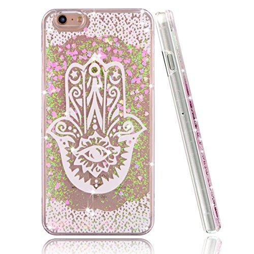 iPhone-6-Plus-CaseiPhone-6S-Plus-CoverUZZO-iPhone-66S-Plus-Liquid-Case-3D-Creative-Design-Liquid-Flowing-Bling-Pink-Glitter-Sparkle-Love-Heart-Hard-Case-for-iPhone-6S6-Plus-55-Music-Symbol