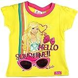 "'Bebé/niña/chica Camiseta de Disney ""Barbie Sunshine con purpurina-Talla 86-110-Amarillo O. Color Blanco amarillo Talla:86"