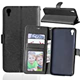 IDOL 3 Case, Asstar Alcatel OneTouch Idol 3 Wallet Case [Card Slot] Slim Fit Premium PU Leather Protective Case with Stand Feature for Alcatel OneTouch Idol 3 (5.5 inch) (Black)