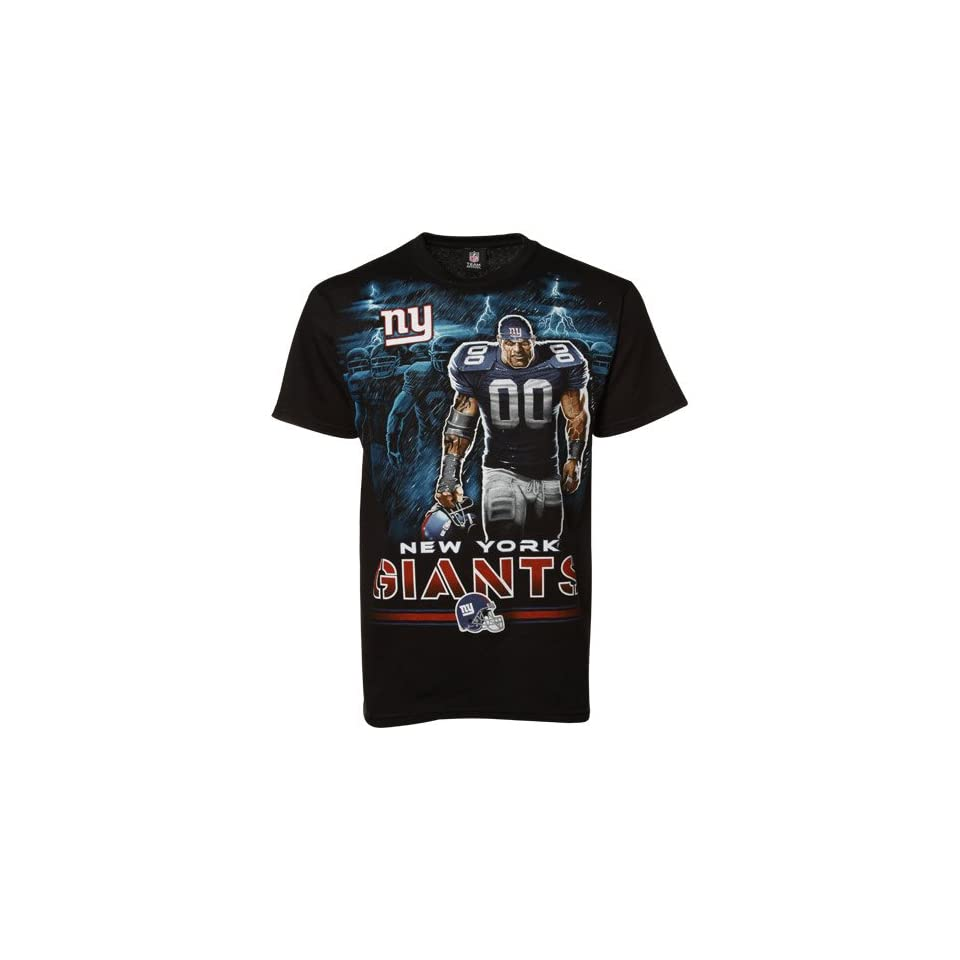 New York Giants Black Tunnel Player T shirt Sports
