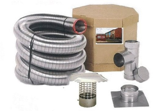 Forever Vent SW630SSK SmoothWall Double Ply Stainless Steel Chimney Liner Kit, 6-Inch x 30-Feet