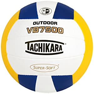 Buy Tachikara VB7500 SUPER-SOFT® Composite Leather Stitched Outdoor Volleyball by Tachikara