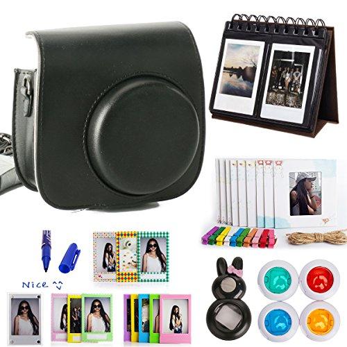woodmin-classical-black-10-in-1-accessories-bundle-for-fujifilm-instax-mini-8-camera-mini-8-case-cal