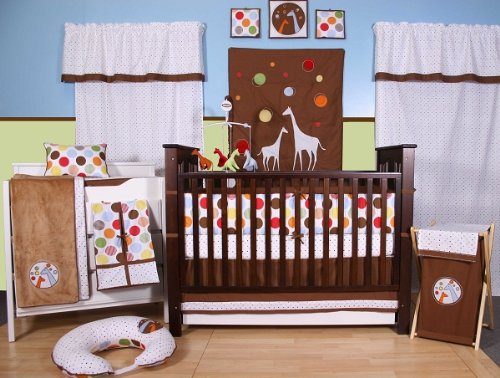 Baby & Me 10 pc Crib Set Bumper free