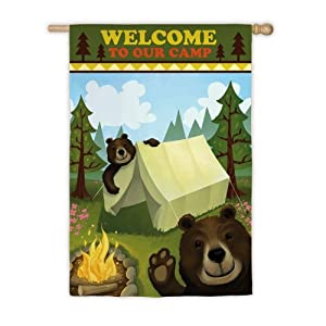 Welcome to Our Camp Garden Flag